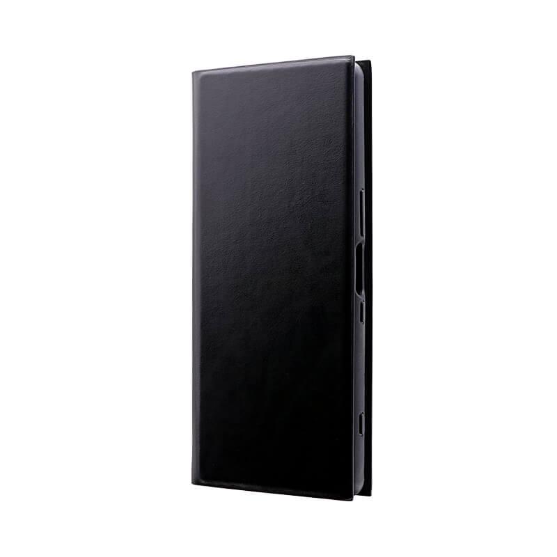 Xperia 1 SO-03L/SOV40/SoftBank 薄型手帳型ケース 「PRIME」 ブラック
