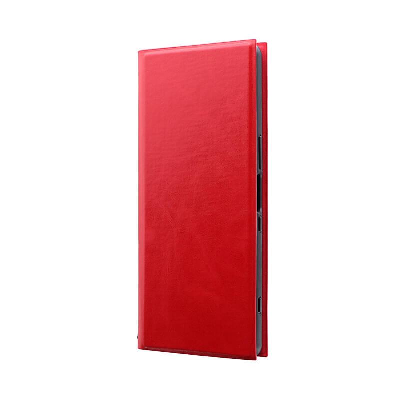 Xperia 1 SO-03L/SOV40/SoftBank 薄型手帳型ケース 「PRIME」 レッド