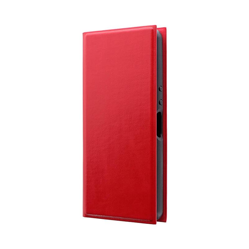 Xperia Ace SO-02L 薄型手帳型ケース 「PRIME」 レッド