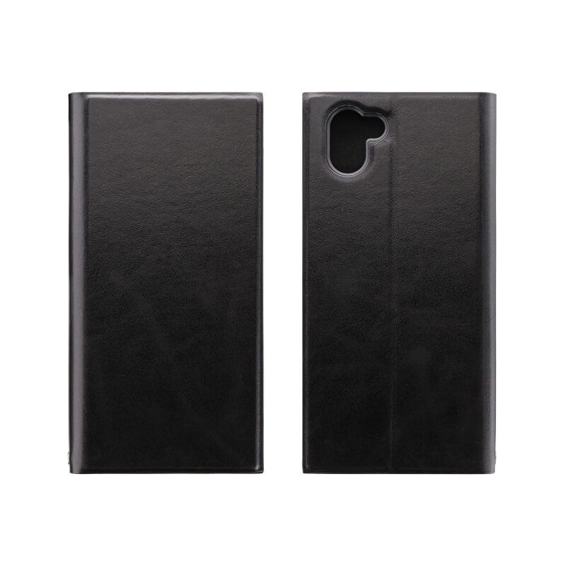 AQUOS R3 SH-04L/SHV44/SoftBank 薄型手帳型ケース 「PRIME」 ブラック