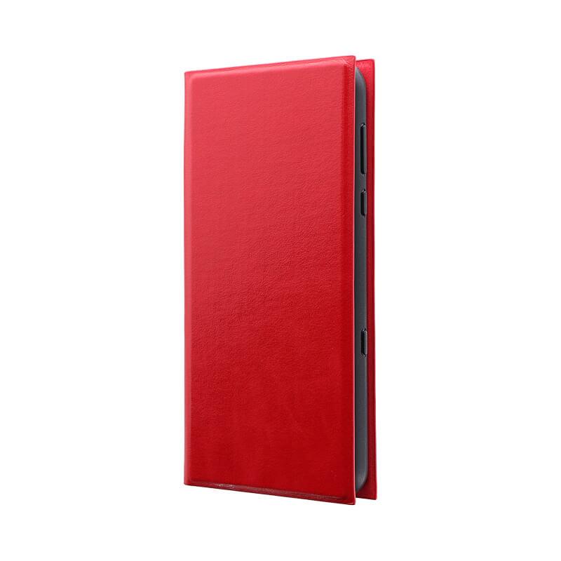 AQUOS R3 SH-04L/SHV44/SoftBank 薄型手帳型ケース 「PRIME」 レッド