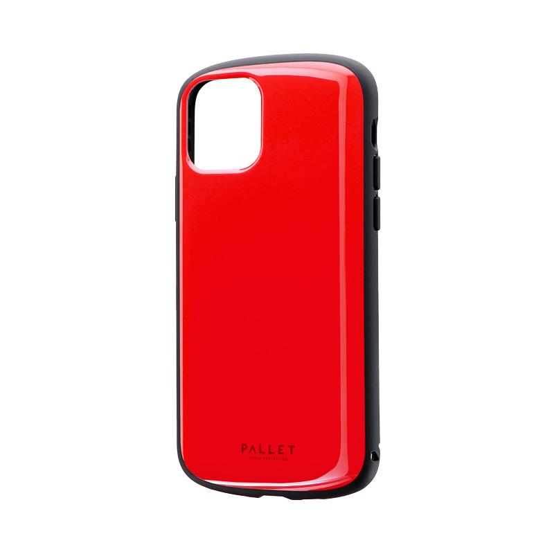 iPhone 11 Pro 超軽量・極薄・耐衝撃ハイブリッドケース「PALLET AIR」 レッド