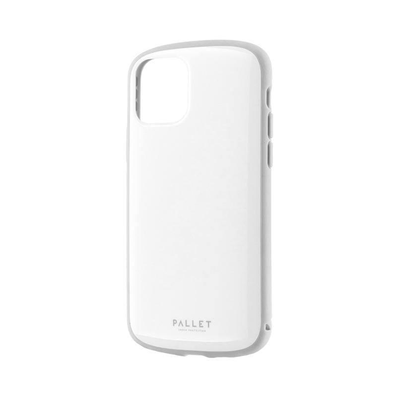 iPhone 11 Pro 超軽量・極薄・耐衝撃ハイブリッドケース「PALLET AIR」 ホワイトグレー