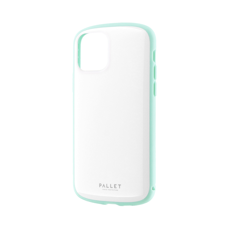 iPhone 11 Pro 超軽量・極薄・耐衝撃ハイブリッドケース「PALLET AIR」 ホワイトミント