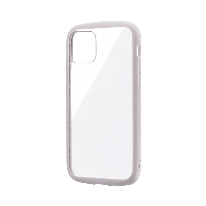 iPhone 11 Pro 耐衝撃ハイブリッドケース「PALLET CLEAR」 ライトグレー