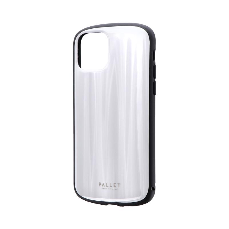iPhone 11 Pro 超軽量・極薄・耐衝撃ハイブリッドケース「PALLET METAL」 ホワイト