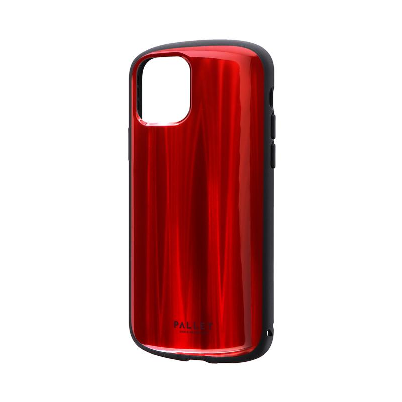 iPhone 11 Pro 超軽量・極薄・耐衝撃ハイブリッドケース「PALLET METAL」 レッド