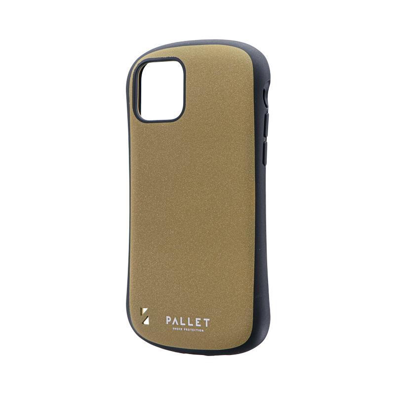 iPhone 11 Pro 超軽量・極薄・耐衝撃ハイブリッドケース「PALLET STEEL」 イエローベージュ