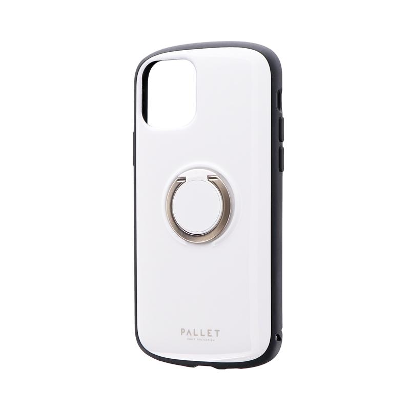 iPhone 11 Pro 耐衝撃リング付ハイブリッドケース「PALLET RING」 ホワイト