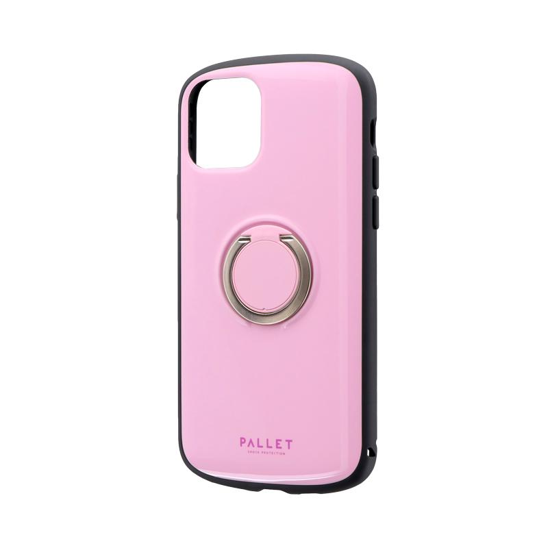 iPhone 11 Pro 耐衝撃リング付ハイブリッドケース「PALLET RING」 ピンク