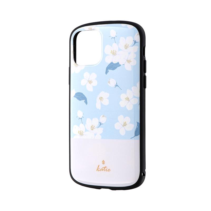 iPhone 11 Pro 超軽量・極薄・耐衝撃ハイブリッドケース「PALLET Katie」 フラワーサックス