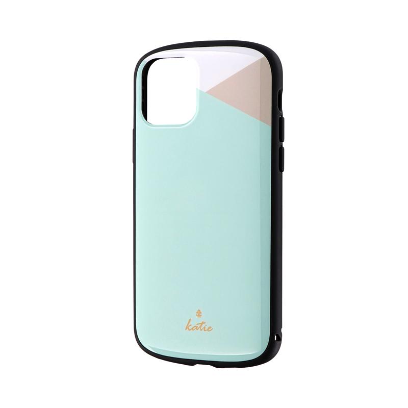 iPhone 11 Pro 超軽量・極薄・耐衝撃ハイブリッドケース「PALLET Katie」 パステルミント