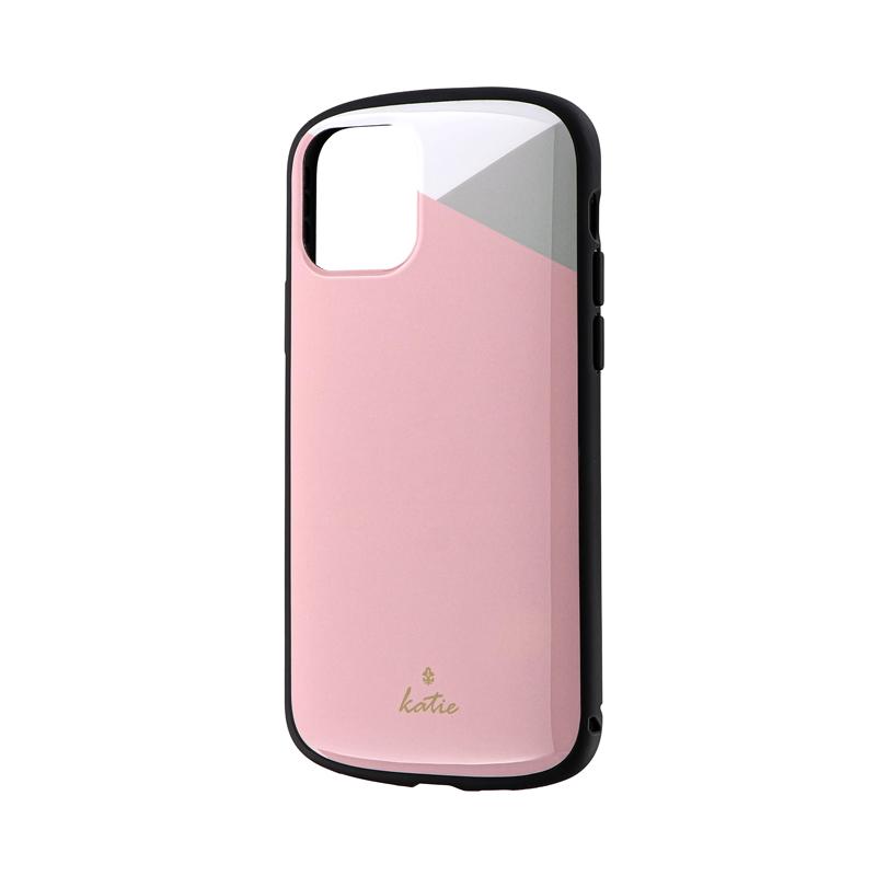 iPhone 11 Pro 超軽量・極薄・耐衝撃ハイブリッドケース「PALLET Katie」 パステルピンク