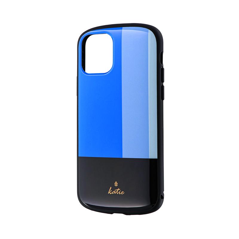 iPhone 11 Pro 超軽量・極薄・耐衝撃ハイブリッドケース「PALLET Katie」 トリコロールブルー
