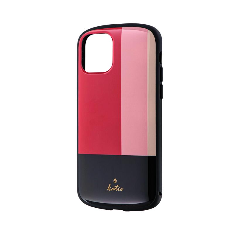 iPhone 11 Pro 超軽量・極薄・耐衝撃ハイブリッドケース「PALLET Katie」 トリコロールピンク
