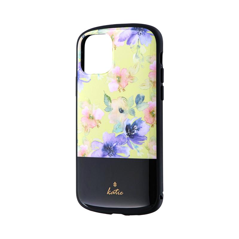iPhone 11 Pro 超軽量・極薄・耐衝撃ハイブリッドケース「PALLET Katie」 フラワーイエロー