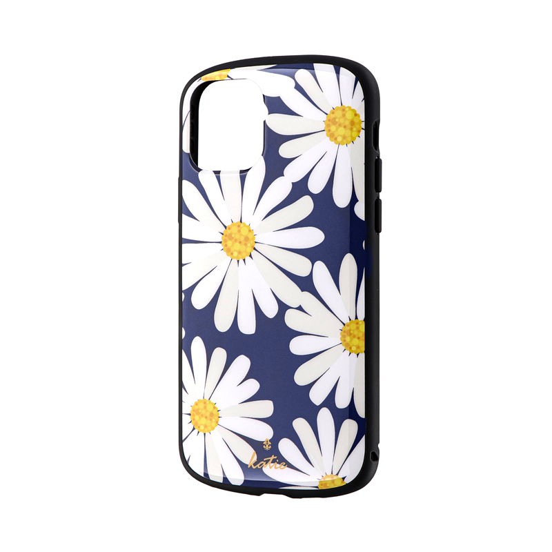 iPhone 11 Pro 超軽量・極薄・耐衝撃ハイブリッドケース「PALLET Katie」 マーガレットネイビー
