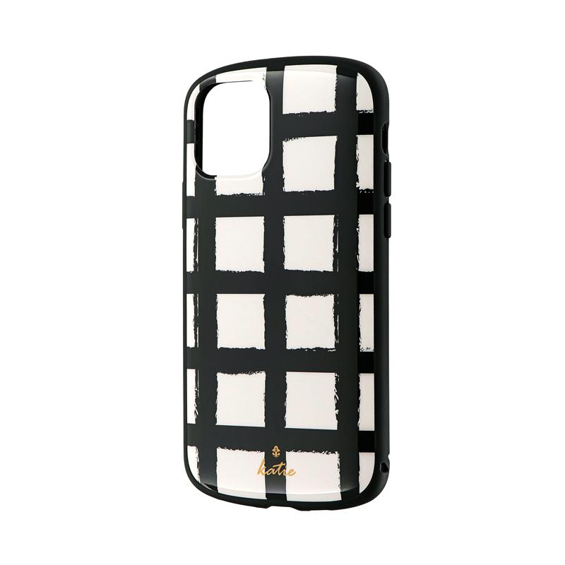 iPhone 11 Pro 超軽量・極薄・耐衝撃ハイブリッドケース「PALLET Katie」 ラティスホワイト