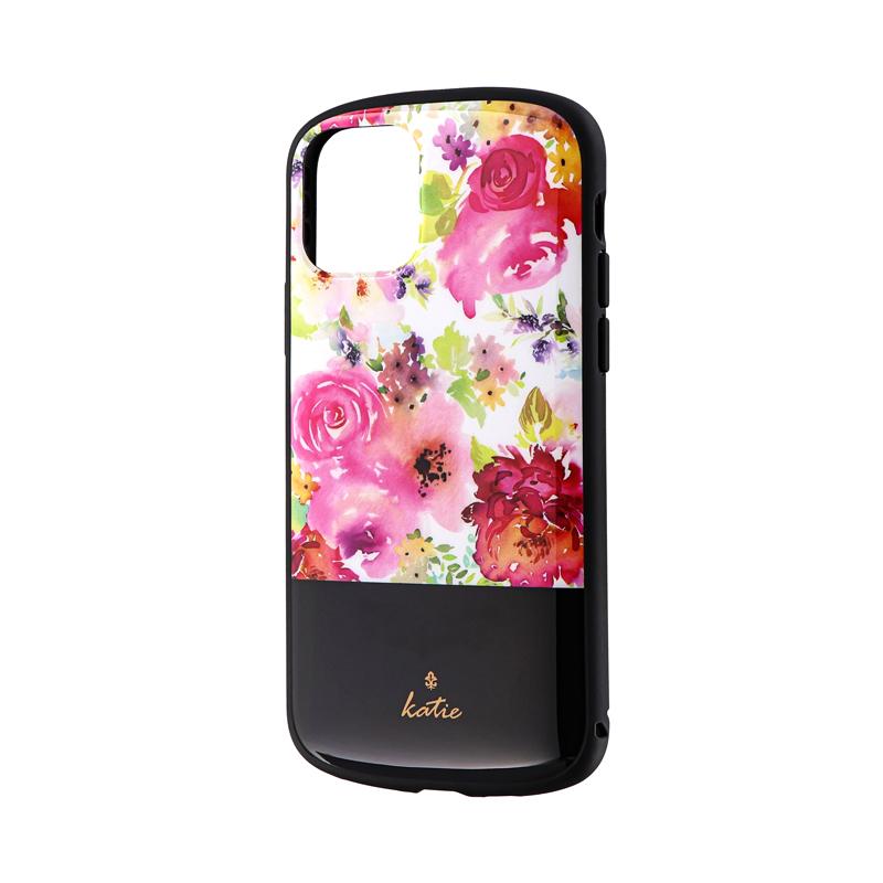 iPhone 11 Pro 超軽量・極薄・耐衝撃ハイブリッドケース「PALLET Katie」 フラワーピンク