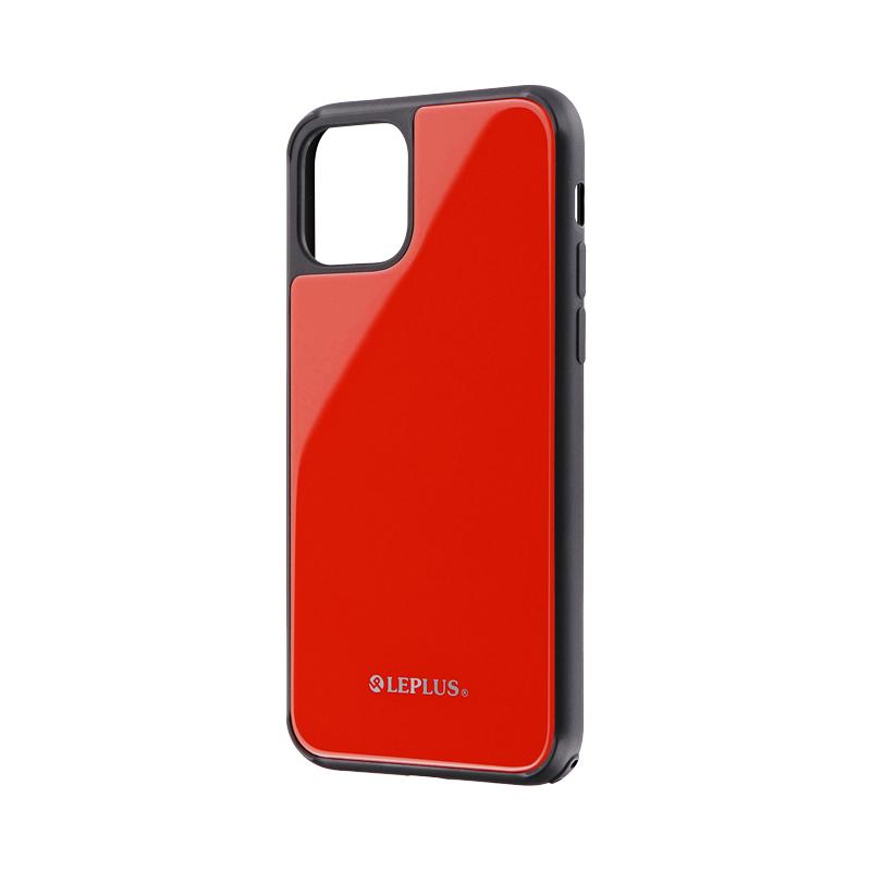 iPhone 11 Pro 背面ガラスシェルケース「SHELL GLASS」 レッド