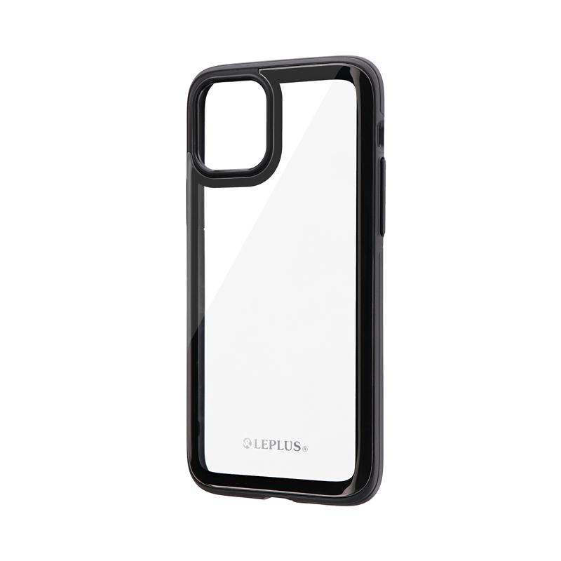 iPhone 11 Pro 背面3Dガラスシェルケース「SHELL GLASS Round」 ブラック