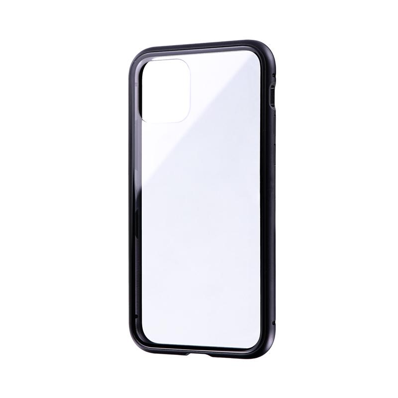 iPhone 11 Pro ガラス&アルミケース「SHELL GLASS Aluminum」 ブラック