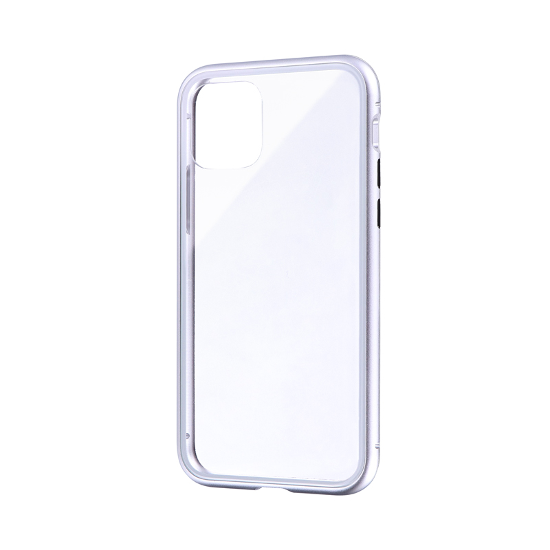 iPhone 11 Pro ガラス&アルミケース「SHELL GLASS Aluminum」 シルバー