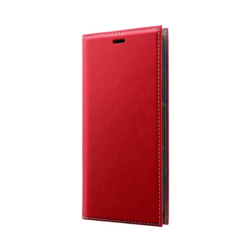 iPhone 11 Pro 薄型PUレザーフラップケース「PRIME」 レッド