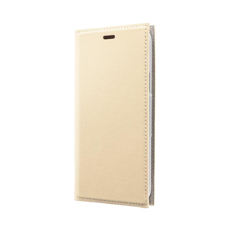iPhone 11 Pro 薄型PUレザーフラップケース「PRIME」 ベージュ