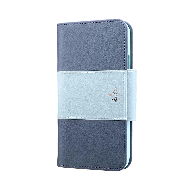 iPhone 11 Pro 上質PUレザーブックケース「PREMIER Katie」 ブルー
