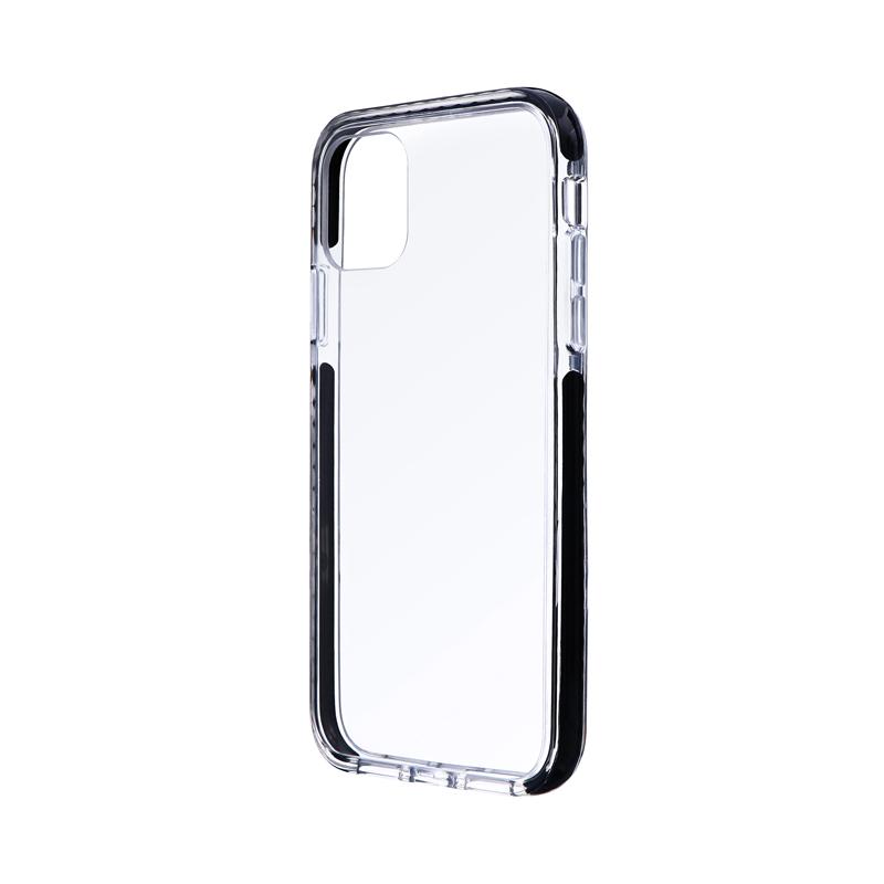 iPhone 11 耐衝撃3種ハイブリッドケース「CLEAR STRONG TOUGH」 ブラック