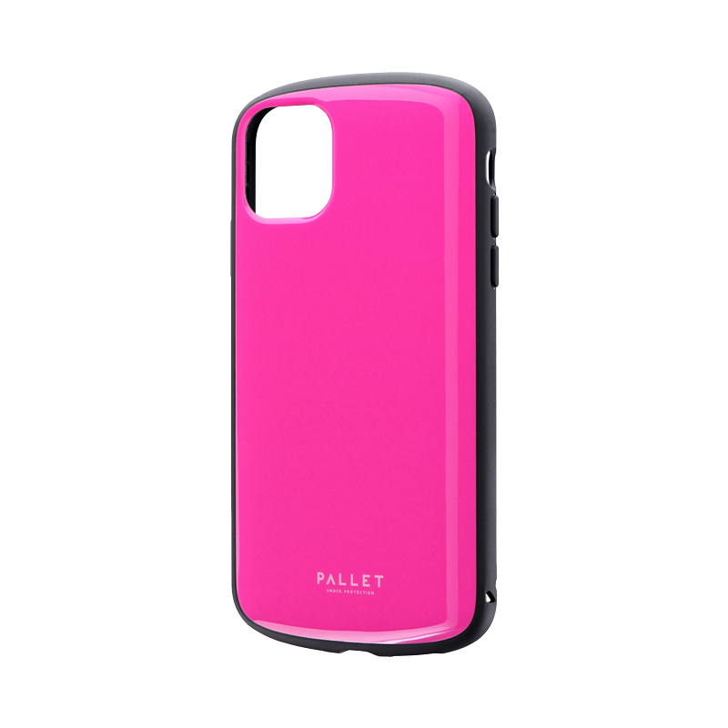 iPhone 11 超軽量・極薄・耐衝撃ハイブリッドケース「PALLET AIR」 ホットピンク