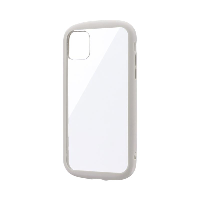 iPhone 11 耐衝撃ハイブリッドケース「PALLET CLEAR」 ライトグレー