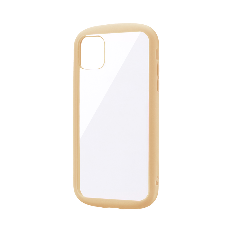 iPhone 11 耐衝撃ハイブリッドケース「PALLET CLEAR」 ベージュ