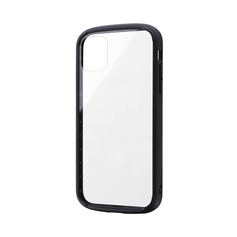 iPhone 11 耐衝撃ガラスハイブリッドケース「PALLET GLASS」 ブラック