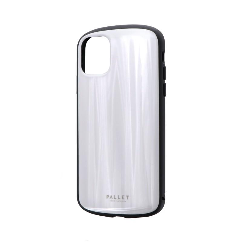 iPhone 11 超軽量・極薄・耐衝撃ハイブリッドケース「PALLET METAL」 ホワイト
