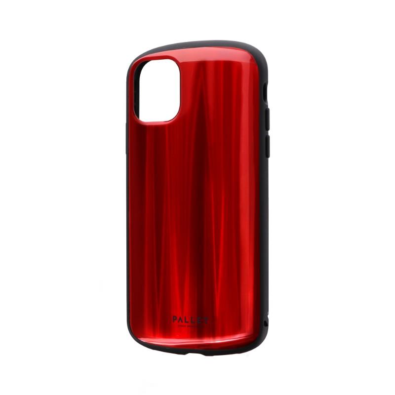 iPhone 11 超軽量・極薄・耐衝撃ハイブリッドケース「PALLET METAL」 レッド