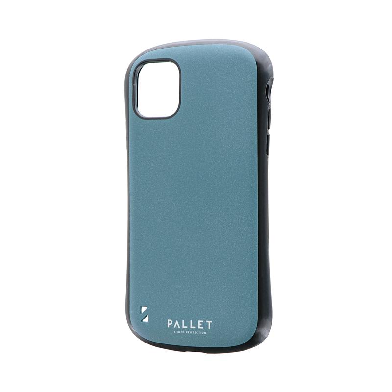 iPhone 11 超軽量・極薄・耐衝撃ハイブリッドケース「PALLET STEEL」 ライトブルー