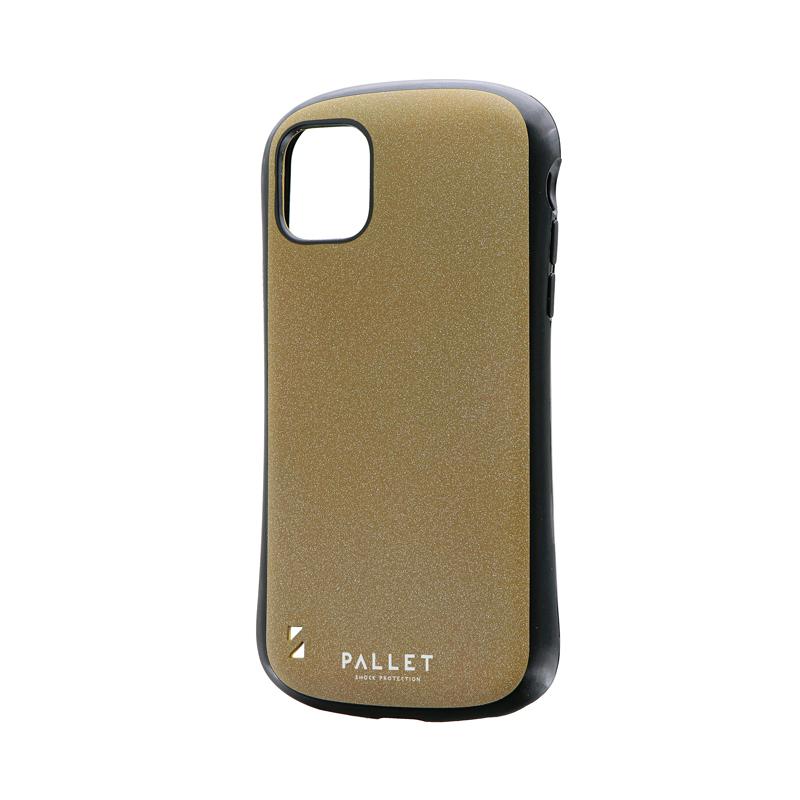 iPhone 11 超軽量・極薄・耐衝撃ハイブリッドケース「PALLET STEEL」 イエローベージュ