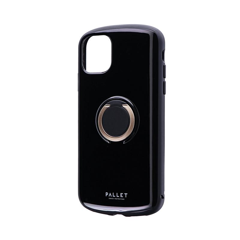 iPhone 11 耐衝撃リング付ハイブリッドケース「PALLET RING」 ブラック
