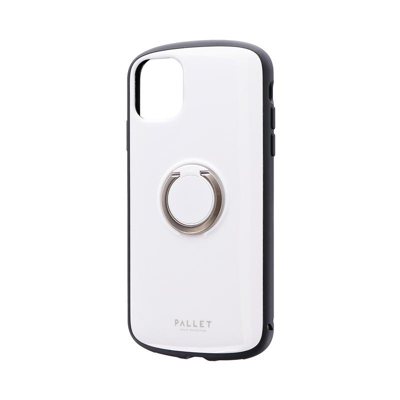 iPhone 11 耐衝撃リング付ハイブリッドケース「PALLET RING」 ホワイト