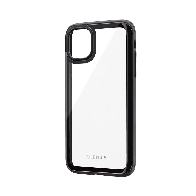 iPhone 11 背面3Dガラスシェルケース「SHELL GLASS Round」 ブラック