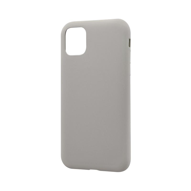 iPhone 11 シンプルソフトケース「SMOOTH」 ライトグレー