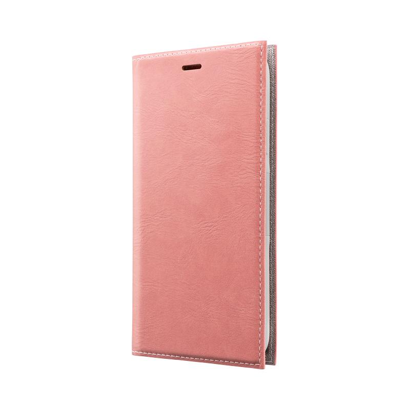 iPhone 11 薄型PUレザーフラップケース「PRIME」 ピンク