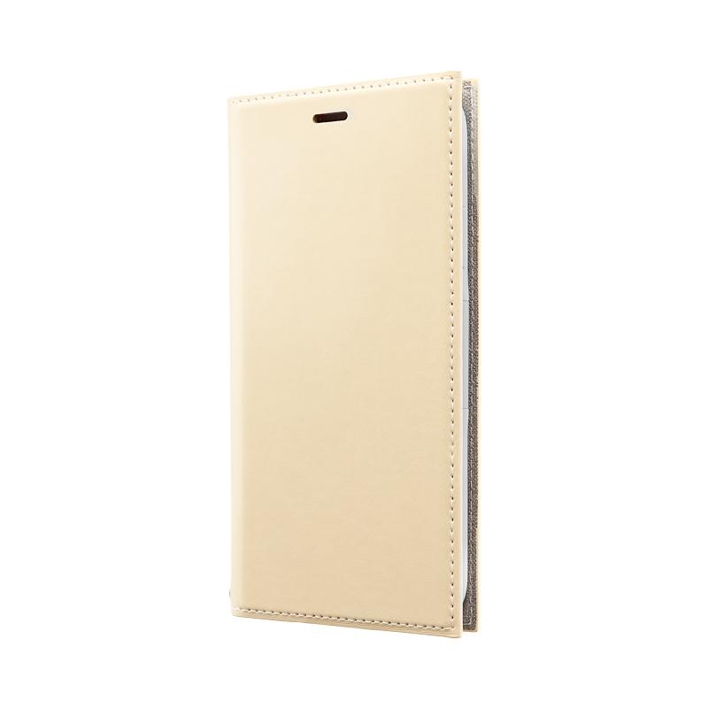 iPhone 11 薄型PUレザーフラップケース「PRIME」 ベージュ