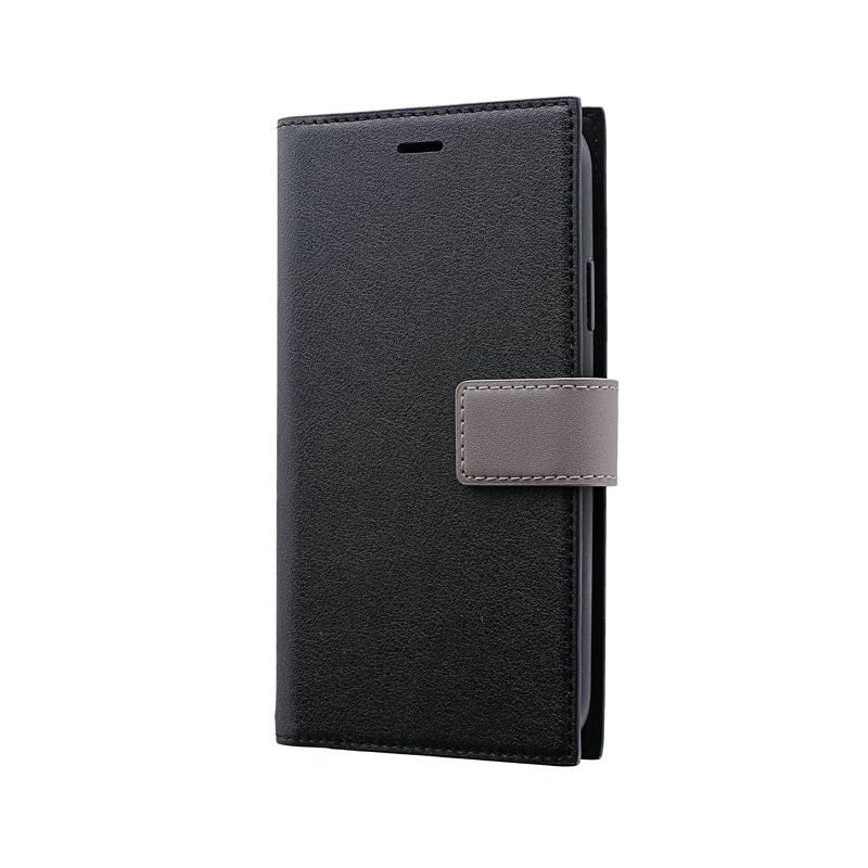 iPhone 11 薄型PUレザーフラップケース「PRIME HOOK」 ブラック