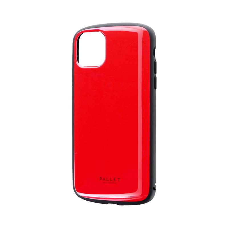 iPhone 11 Pro Max 超軽量・極薄・耐衝撃ハイブリッドケース「PALLET AIR」 レッド
