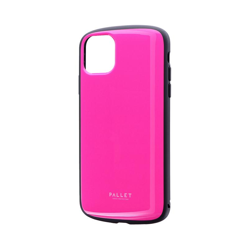 iPhone 11 Pro Max 超軽量・極薄・耐衝撃ハイブリッドケース「PALLET AIR」 ホットピンク