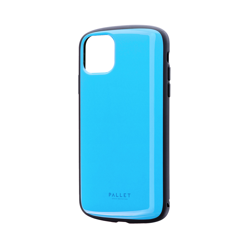 iPhone 11 Pro Max 超軽量・極薄・耐衝撃ハイブリッドケース「PALLET AIR」 スカイブルー