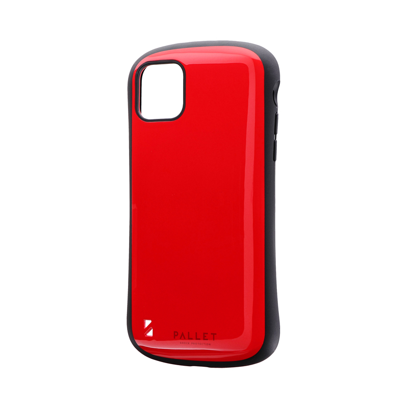 iPhone 11 Pro Max 耐衝撃ハイブリッドケース「PALLET」 レッド